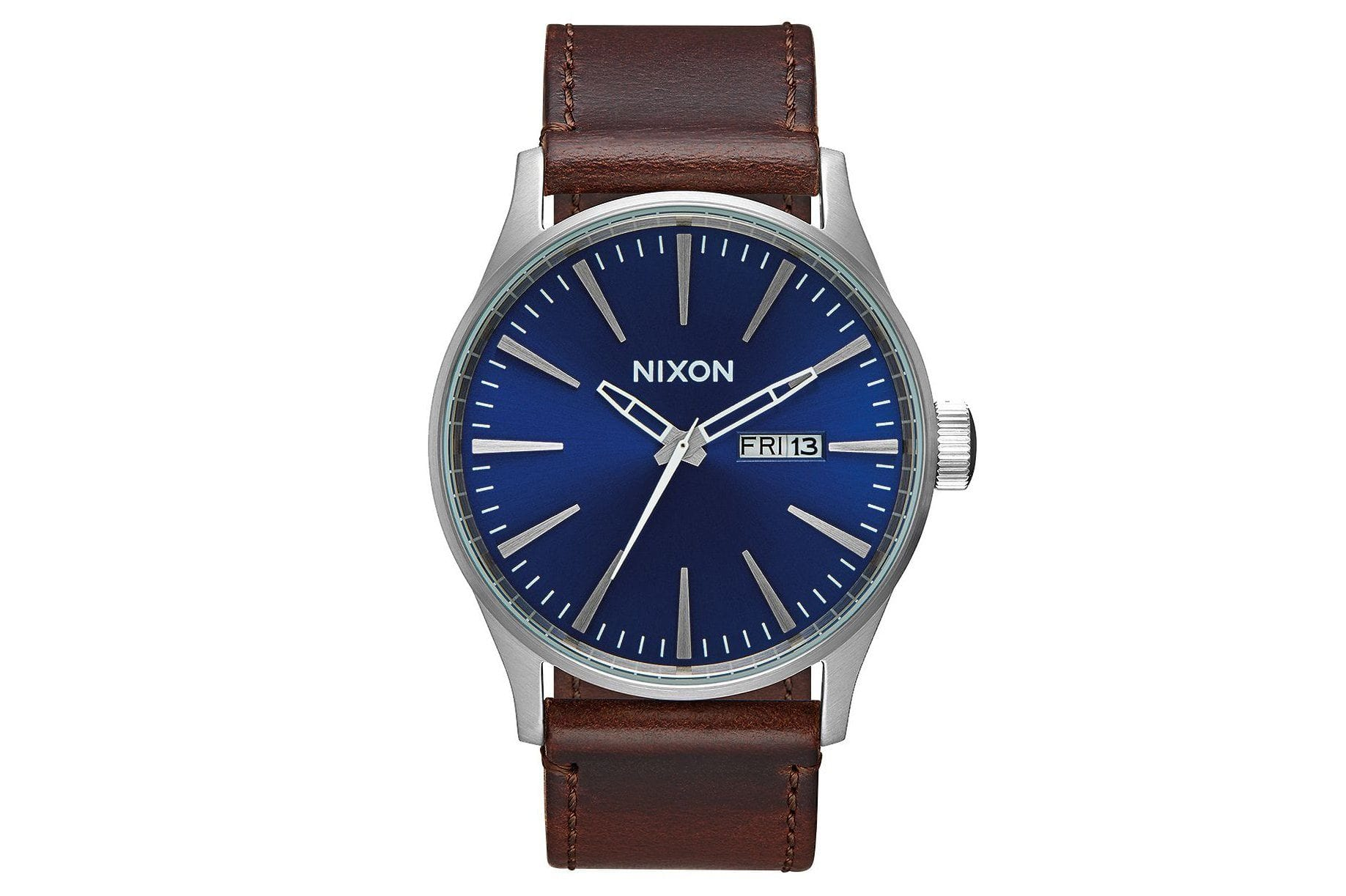 SENTRY LEATHER WATCHES NIXON BLUE/BROWN ONE SIZE