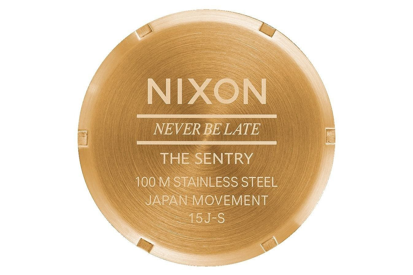 MEN'S SENTRY LEATHER GOLD/BLACK WATCHES NIXON