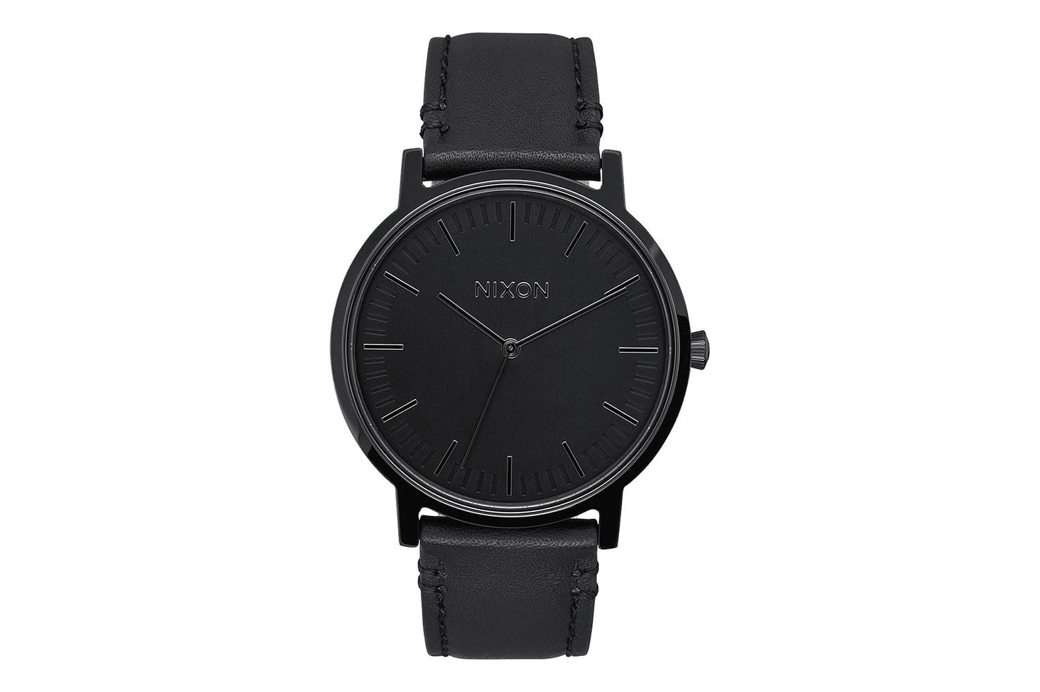 MEN'S Porter Leather All Black WATCHES NIXON
