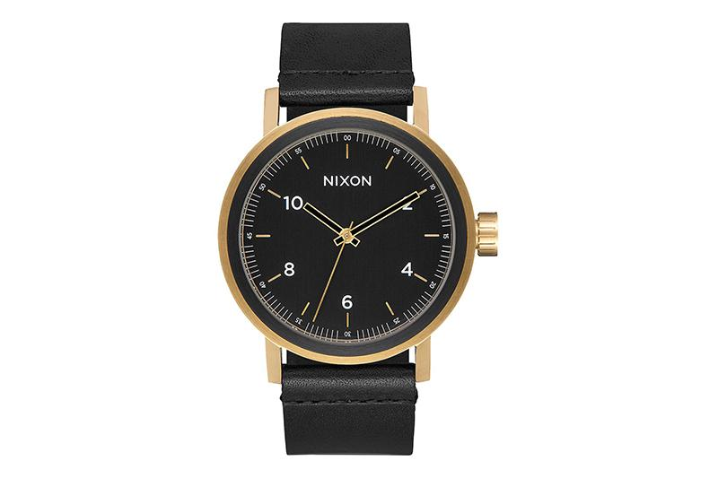 STARK LEATHER WATCHES NIXON ALL BLACK/GOLD ONE SIZE