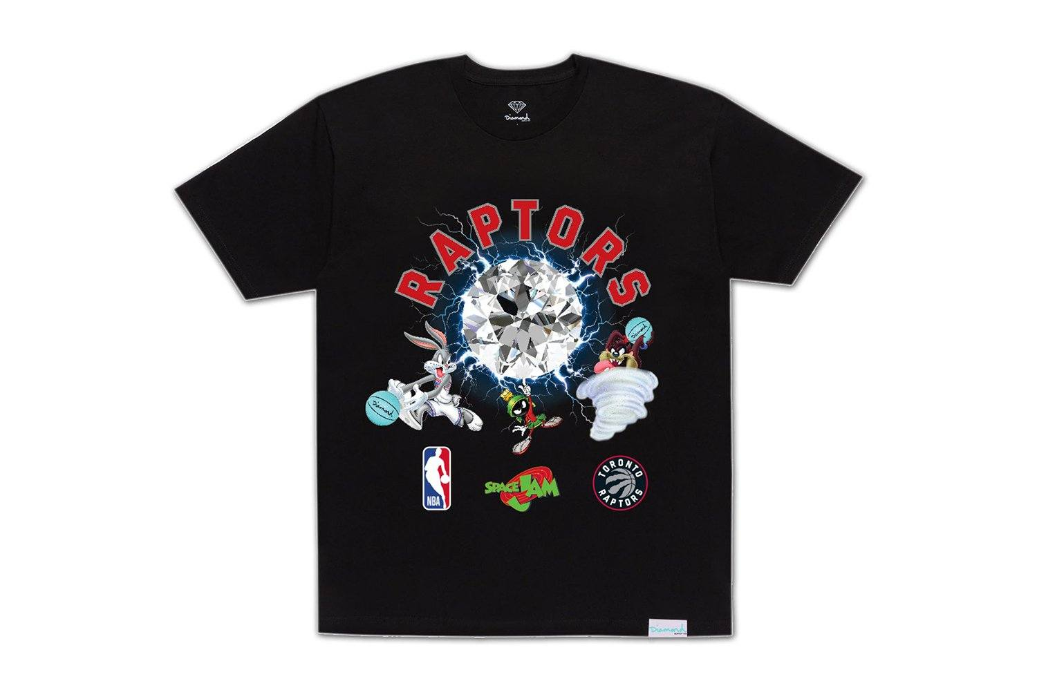 SPACE JAM RAPTORS TEE-A20DMPA202 MENS SOFTGOODS DIAMOND SUPPLY CO.