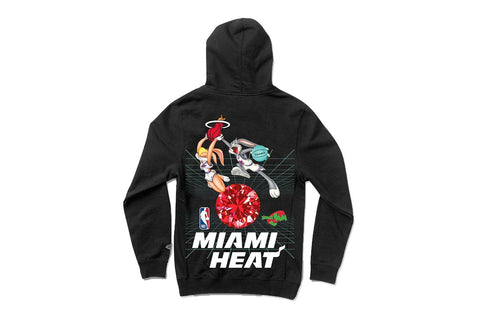 SPACE JAM MIAMI HEAT HOODIE - A20DMPF211 MENS SOFTGOODS DIAMOND SUPPLY CO.