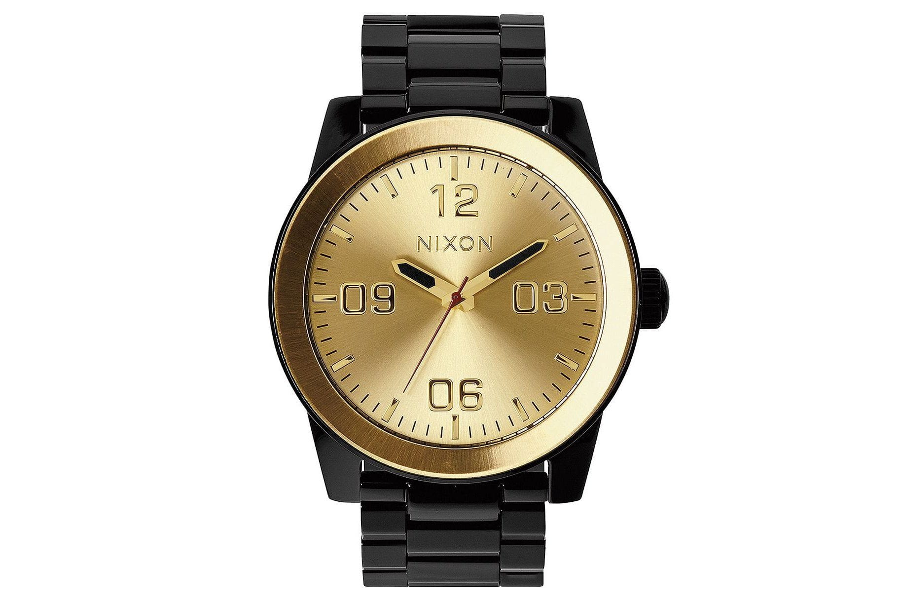 MEN'S CORPORAL SS BLACK/GOLD WATCHES NIXON