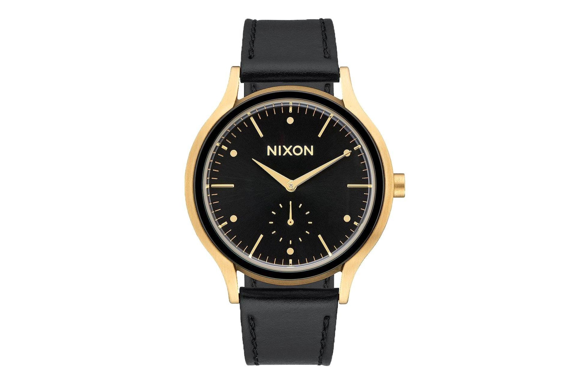 SALA LEATHER WATCHES NIXON GOLD/BLACK ONE SIZE