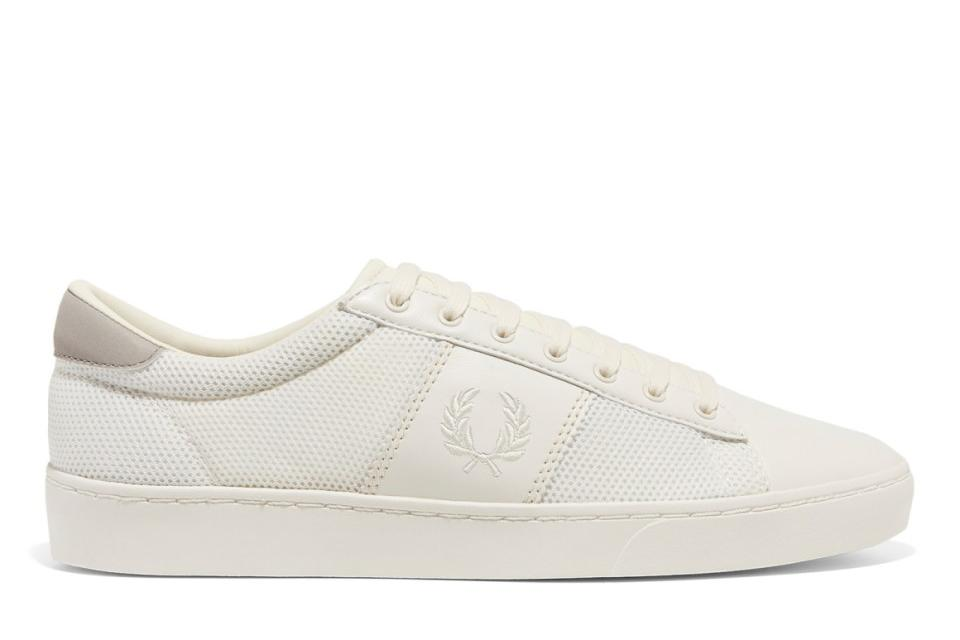 SPENCER MESH/LEATHER MENS FOOTWEAR FRED PERRY WHITE 9