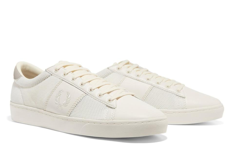 SPENCER MESH/LEATHER MENS FOOTWEAR FRED PERRY