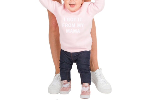 GOT IT FROM MY MAMA-BTLK142 KIDS SOFTGOODS BRUNETTE THE LABEL