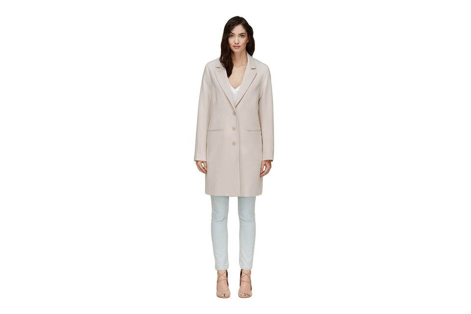BARTHA - DRAPY LONG COAT WOMENS SOFTGOODS SOIA & KYO PEARL XS