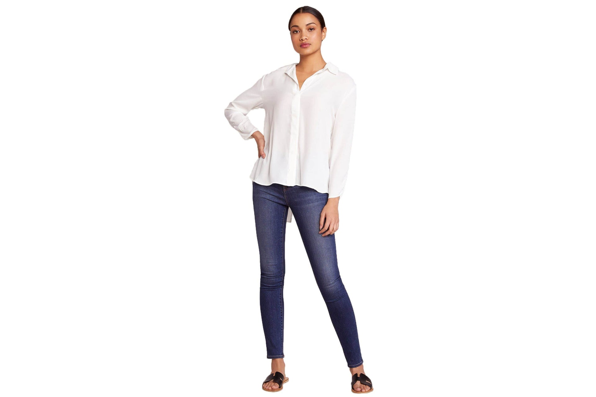 ROLL UP MY SLEEVES IVORY - BJ104249 WOMENS SOFTGOODS BB DAKOTA