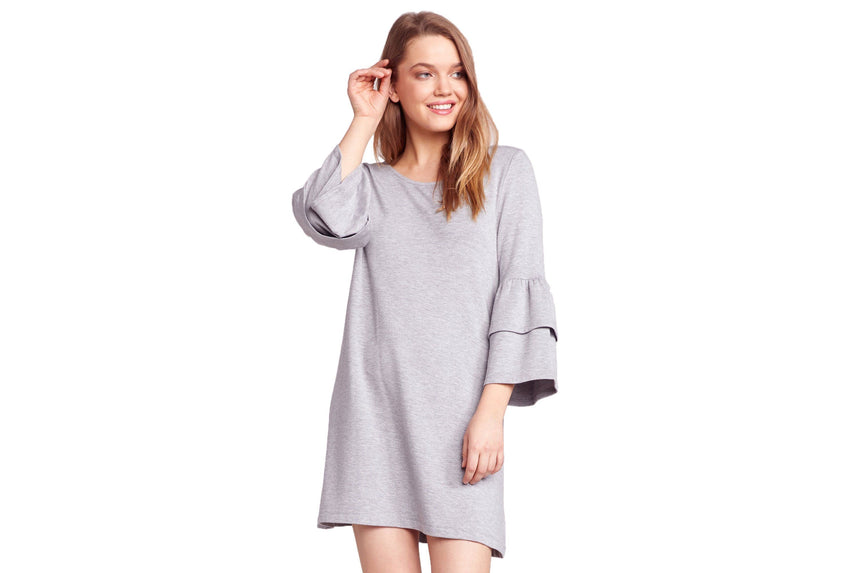 LOST IN THE SONG RUFFLE SLEEVE DRESS WOMENS SOFTGOODS BB DAKOTA