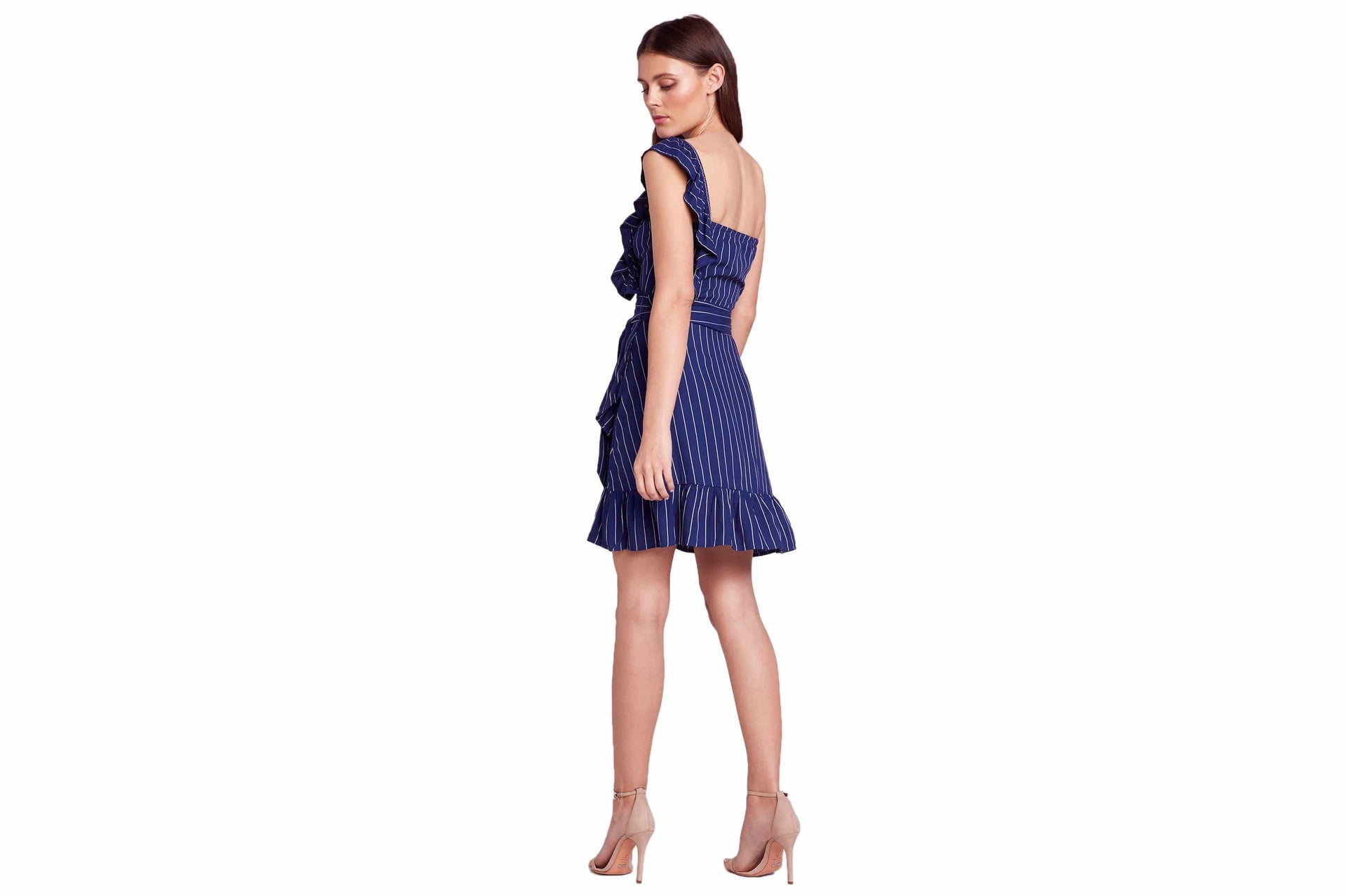 SO ONE SIDED RUFFLE DRESS WOMENS SOFTGOODS BB DAKOTA