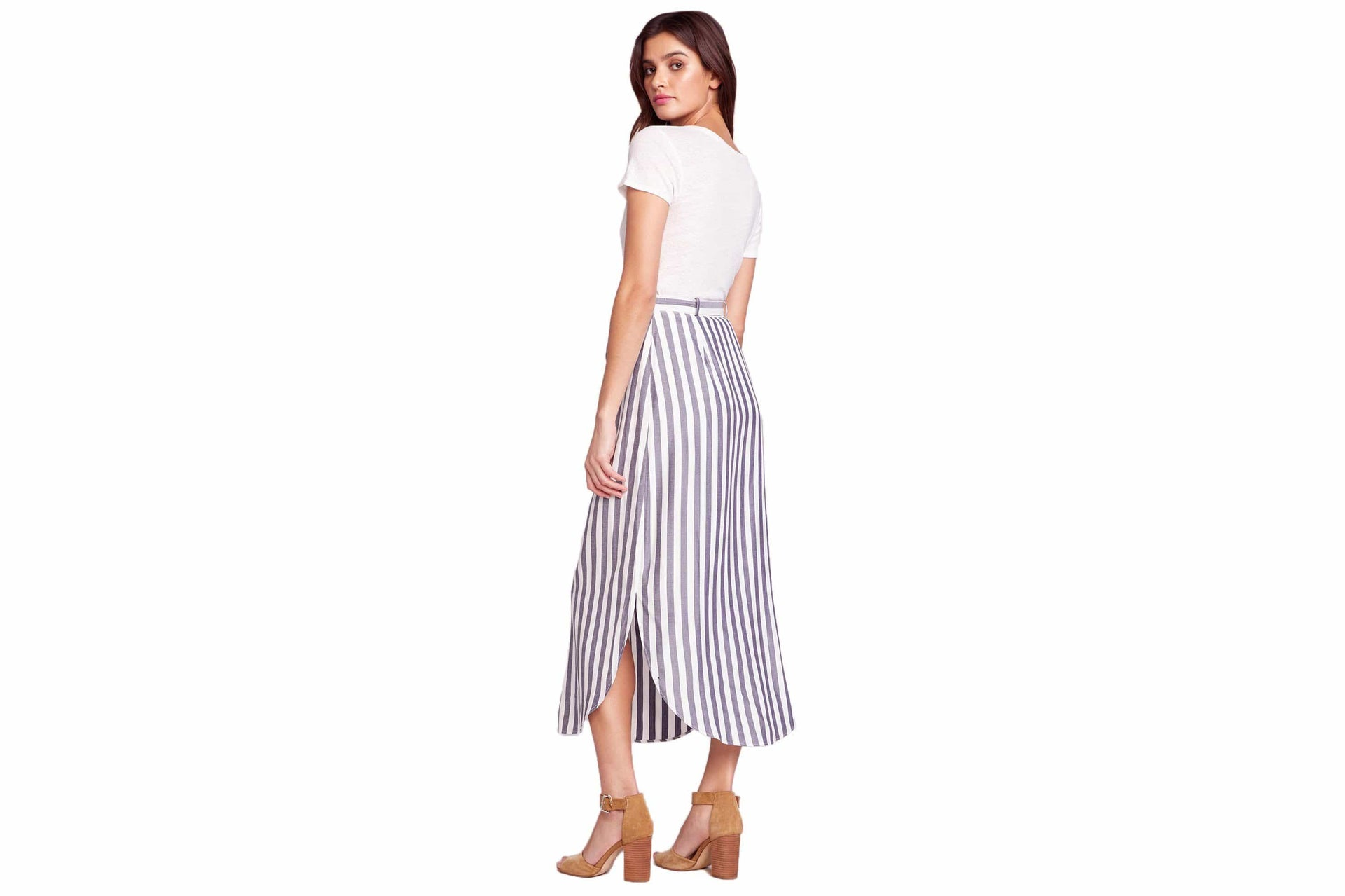 STRIPE I LIKE MIDI SKIRT WOMENS SOFTGOODS BB DAKOTA