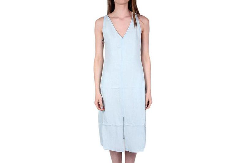 LORETTA DRESS WOMENS SOFTGOODS GENTLEFAWN BLEACHED BLUE L