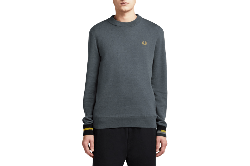 BONDED MERINO CREWNECK JUMPER - K7524 MENS SOFTGOODS FRED PERRY