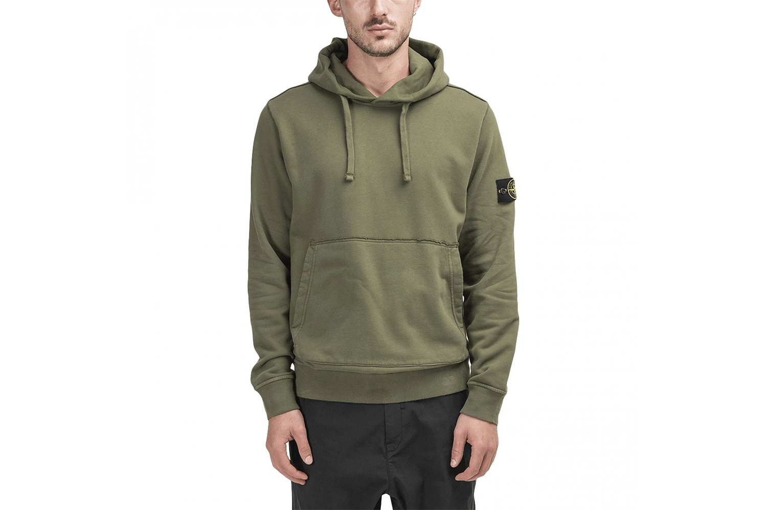 BRUSHED COTTON FLEECE HOODIE - MO711562820 MENS SOFTGOODS STONE ISLAND