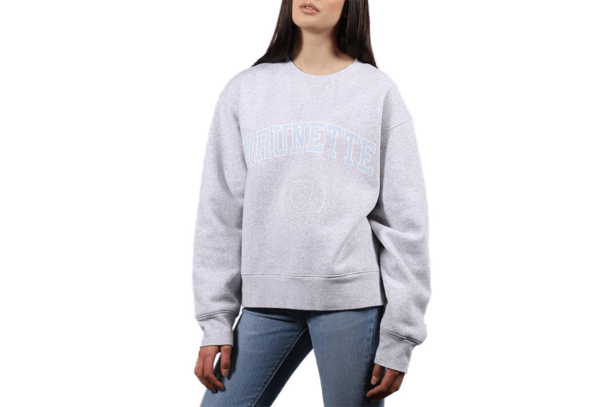 BTL VARSITY CREST BIG SISTER - BTL184 WOMENS SOFTGOODS BRUNETTE THE LABEL