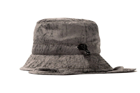 DYED NYLON BUNGEE BUCKET HAT - 132977