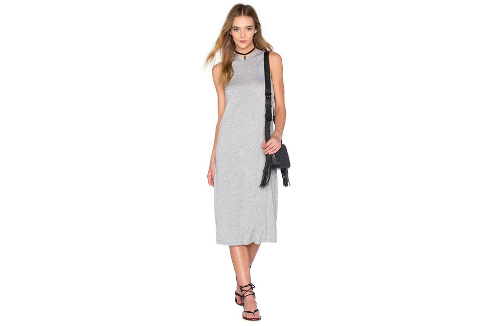 JO DRESS WOMENS SOFTGOODS CHEAP MONDAY GREY MELANGE XS