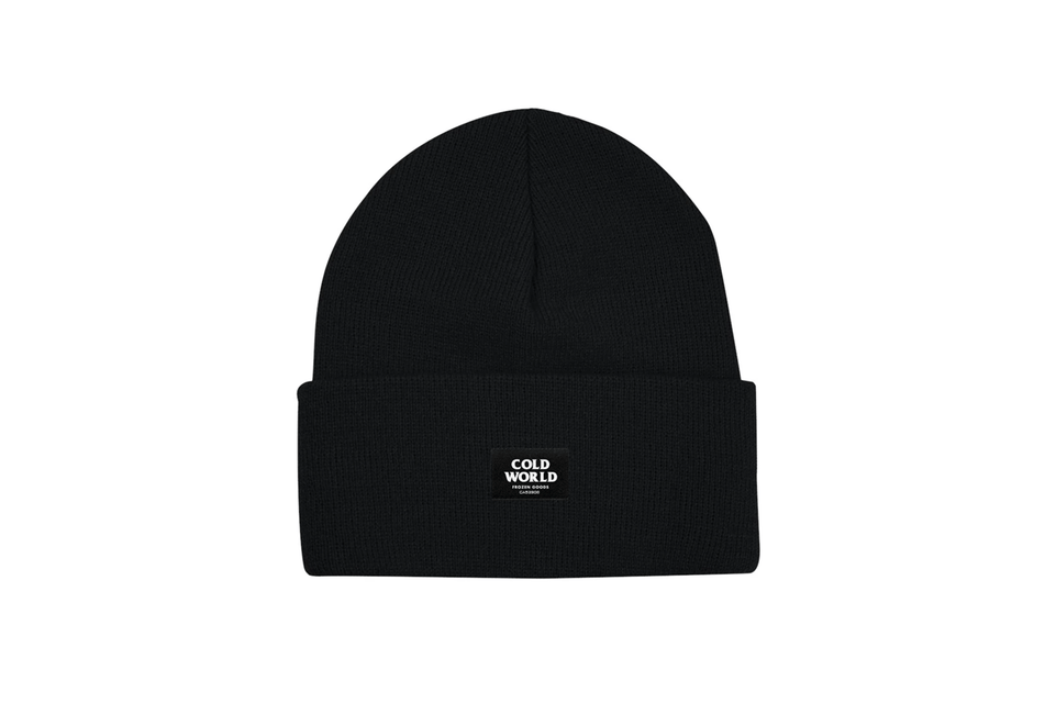Cold World Logo Black Beanie.