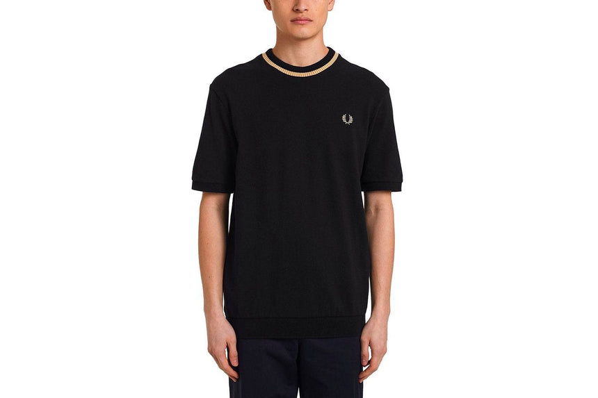 CREW NECK PIQUE T-SHRIT MENS SOFTGOODS FRED PERRY