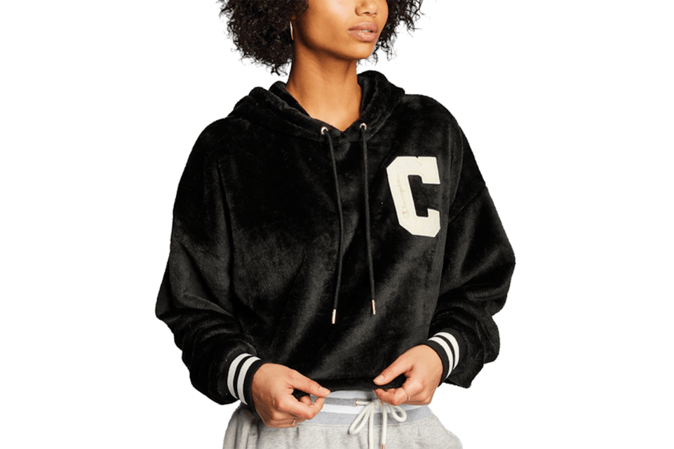 SUPER FLEECE FUR CROPPED HOODIE - WL577 WOMENS SOFTGOODS CHAMPION