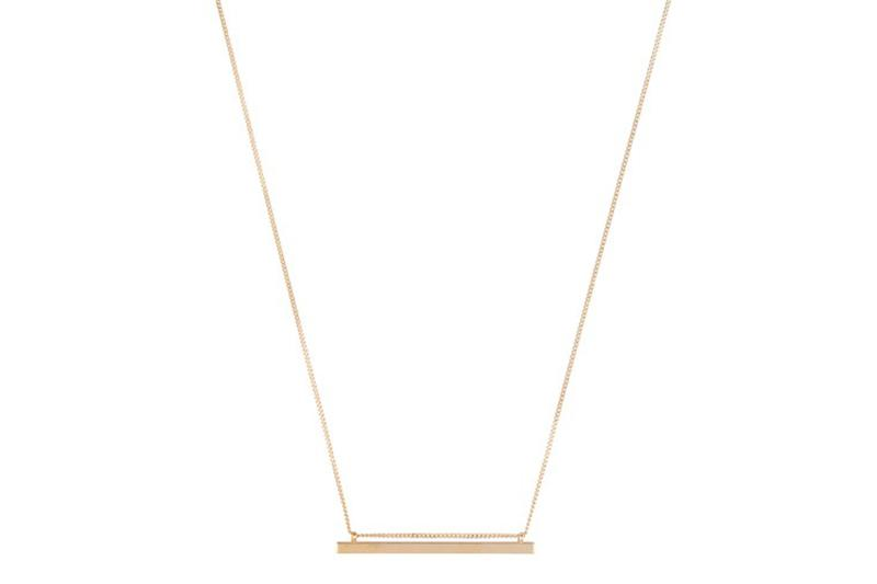 SIMPLE BAR NECKLACE JEWELRY CLUB MANHATTAN gold ONE SIZE