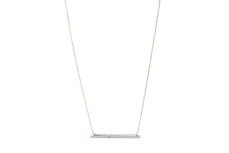 SIMPLE BAR NECKLACE JEWELRY CLUB MANHATTAN silver ONE SIZE