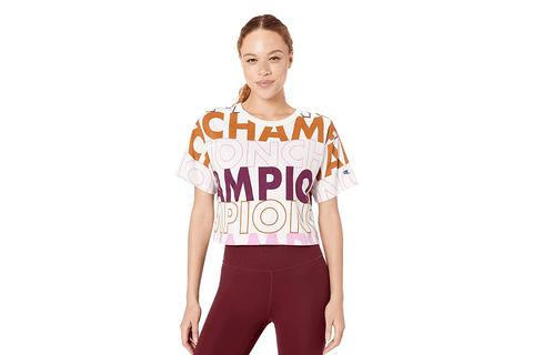 HERITAGE CROPPED TEE AOP - WL956P WOMENS SOFTGOODS CHAMPION