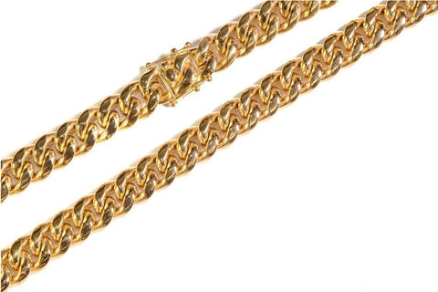 14MM CUBAN LINK NECKLACE JEWELRY GOLDEN GILT