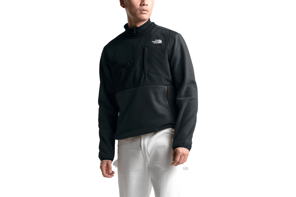 THE NORTH FACE DENALI CREW-NF0A3XCBJK3 IN BLACK FRONT VIEW