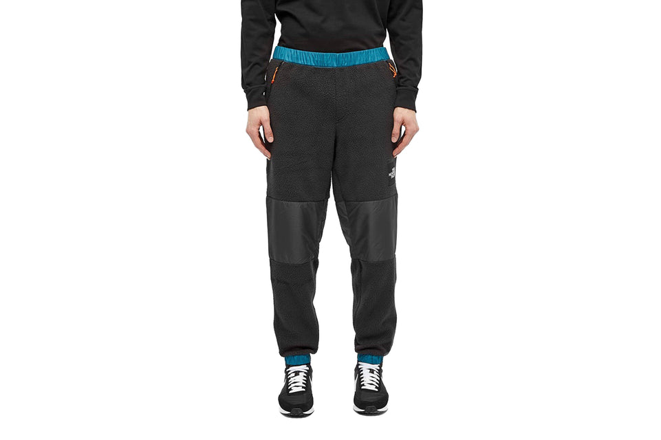 Denali black pants from The North Face are crafted from fleece. Front view.