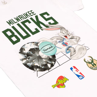 SPACE JAM MILWAUKEE BUCKS TEE - A20DMPA209