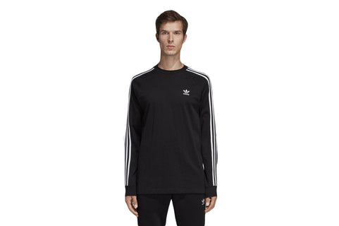 3 - STRIPE LS T - DV1560 MENS SOFTGOODS ADIDAS BLACK S