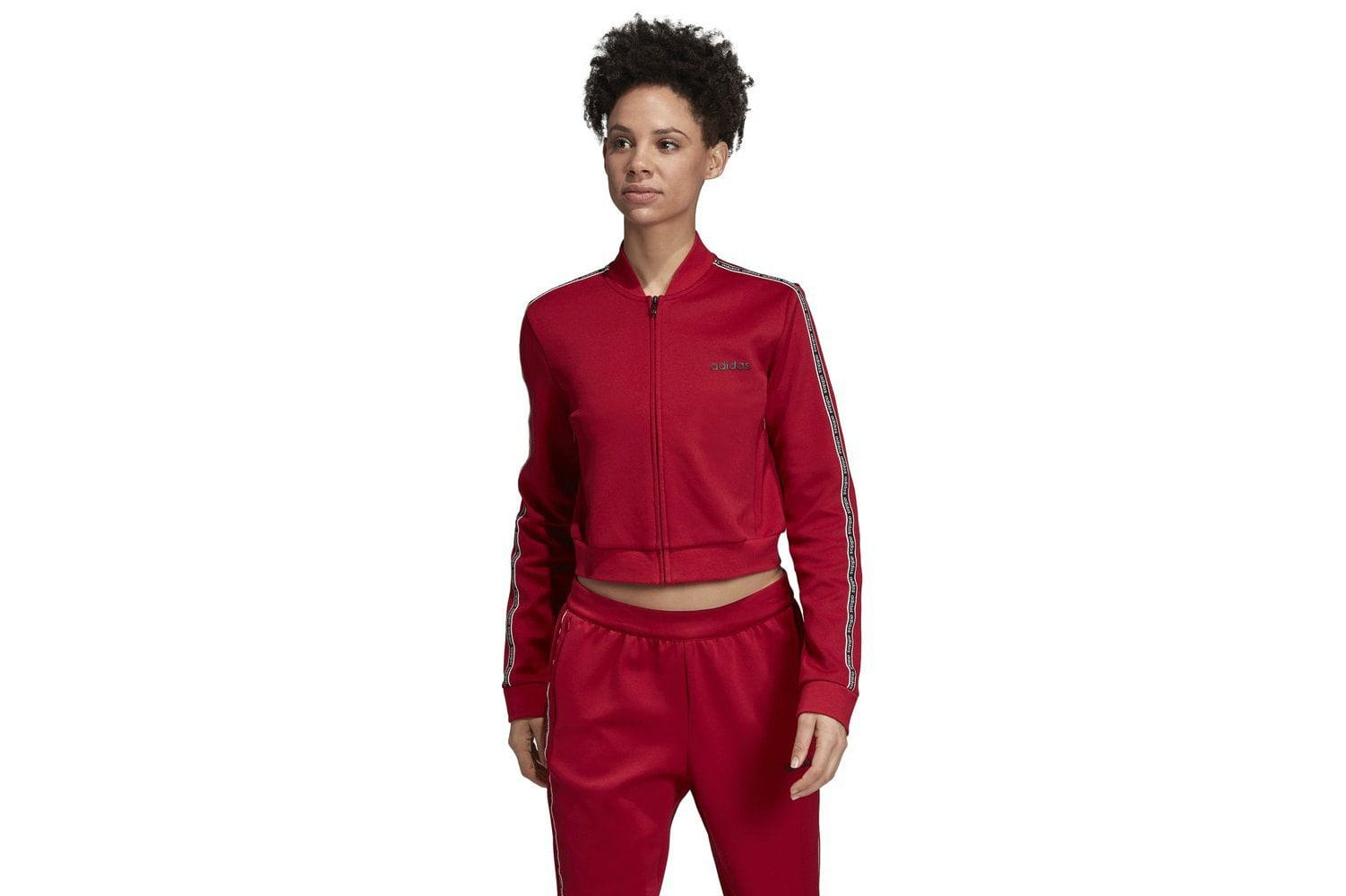 W C90 TRACKTOP - EJ9670 WOMENS SOFTGOODS ADIDAS XS RED/BLACK