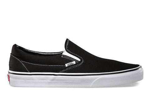 CLASSIC SLIP ON - MENS FOOTWEAR VANS BLACK/ WHITE 8.5