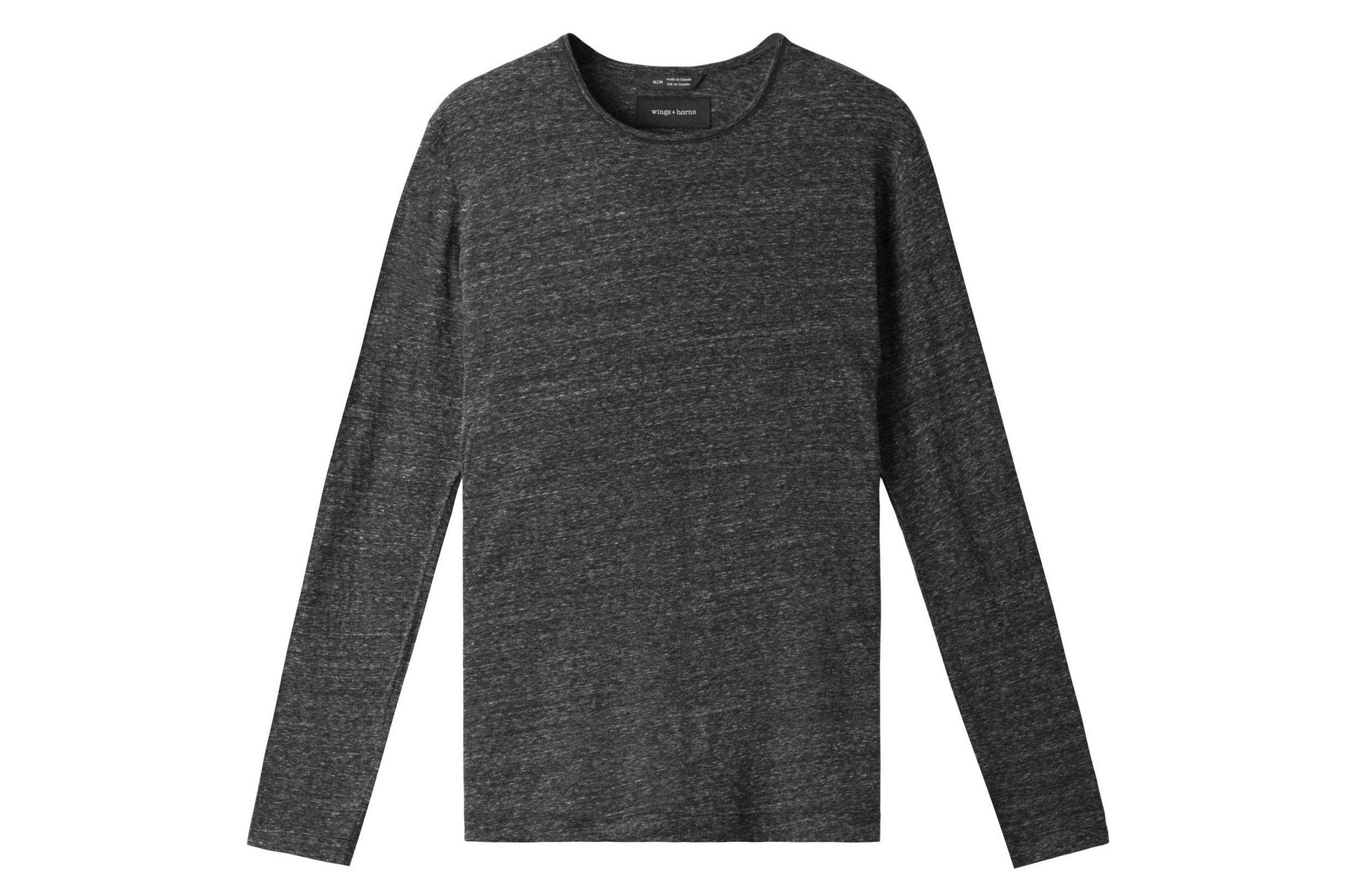 KNIT SPLASH JERSEY L/S MENS SOFTGOODS WINGS+HORNS H.BLACK S