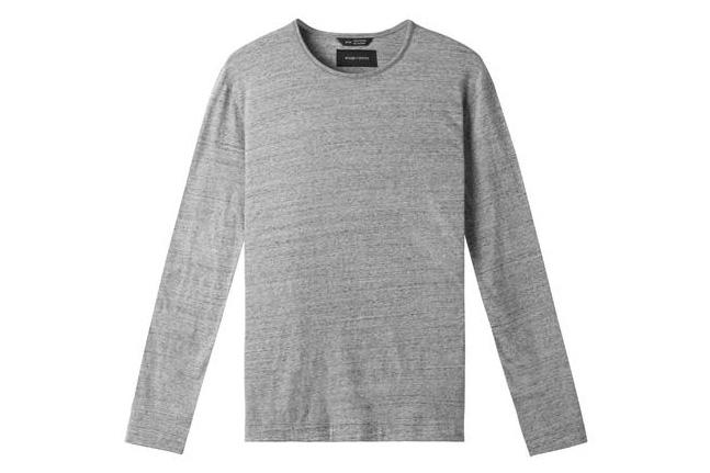 KNIT SPLASH JERSEY L/S MENS SOFTGOODS WINGS+HORNS H.GREY S