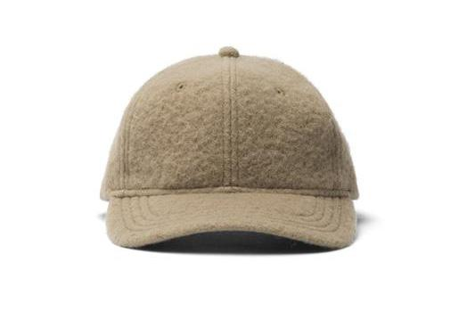 KNIT SHERPA WOOL 6-PANEL HAT HATS WINGS+HORNS STRAW ONE SIZE