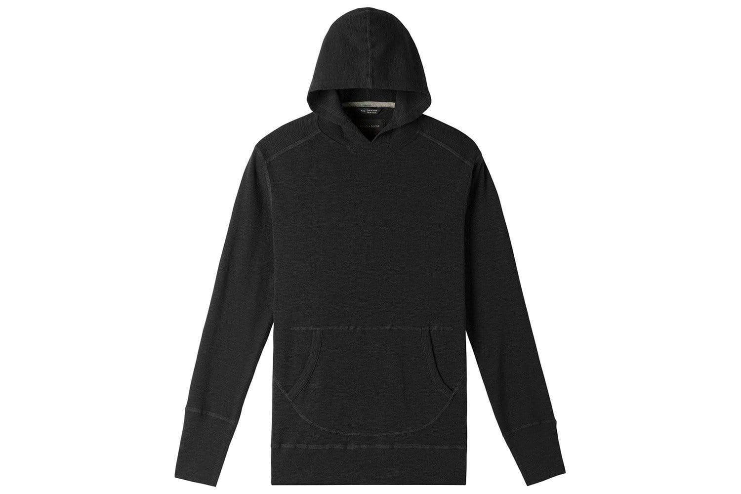 1X1 SLUB HOODED PULLOVER MENS SOFTGOODS WINGS+HORNS BLACK S