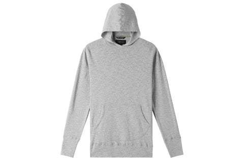 1X1 SLUB HOODED PULLOVER