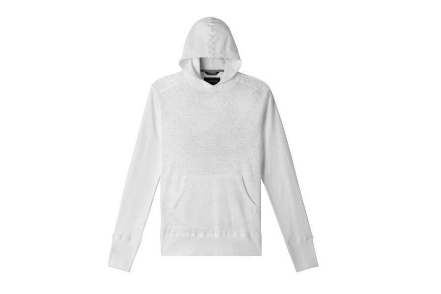1X1 SLUB HOODED PULLOVER MENS SOFTGOODS WINGS+HORNS WHITE S