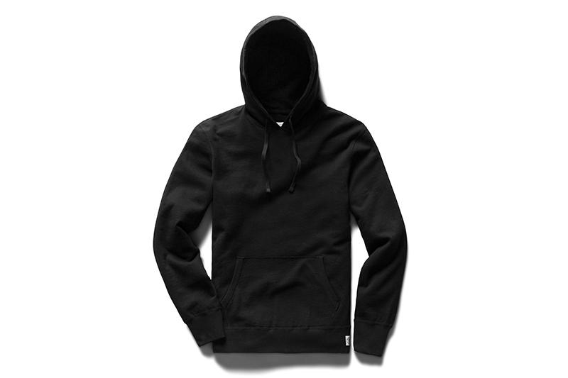 KNIT LIGHTWEIGHT TERRY PULLOVER HOODIE - RC-3529 MENS SOFTGOODS REIGNING CHAMP BLACK S