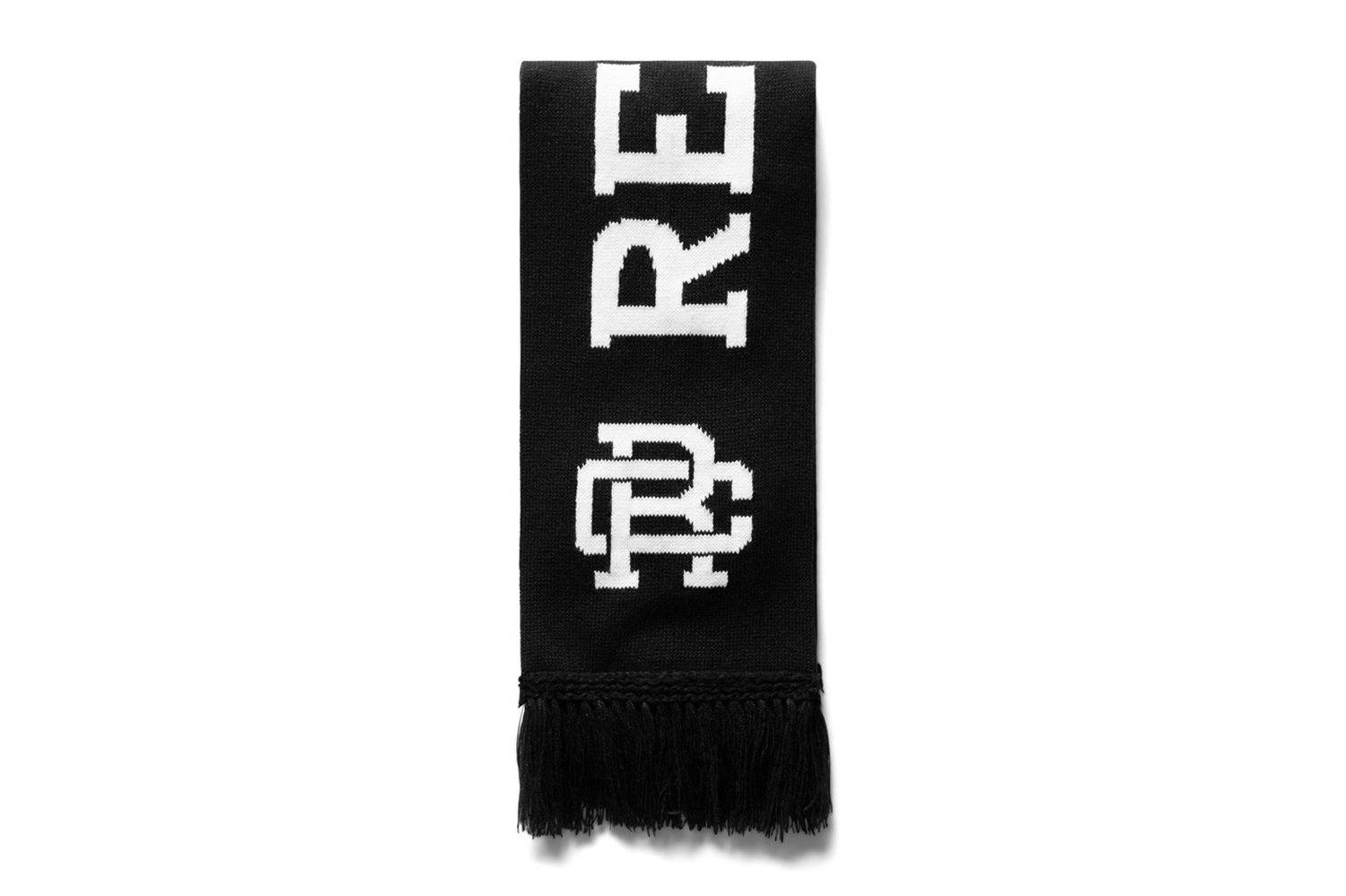 KNIT STADIUM SCARF-RC-7133 MENS SOFTGOODS REIGNING CHAMP BLACK/WHITE O/S