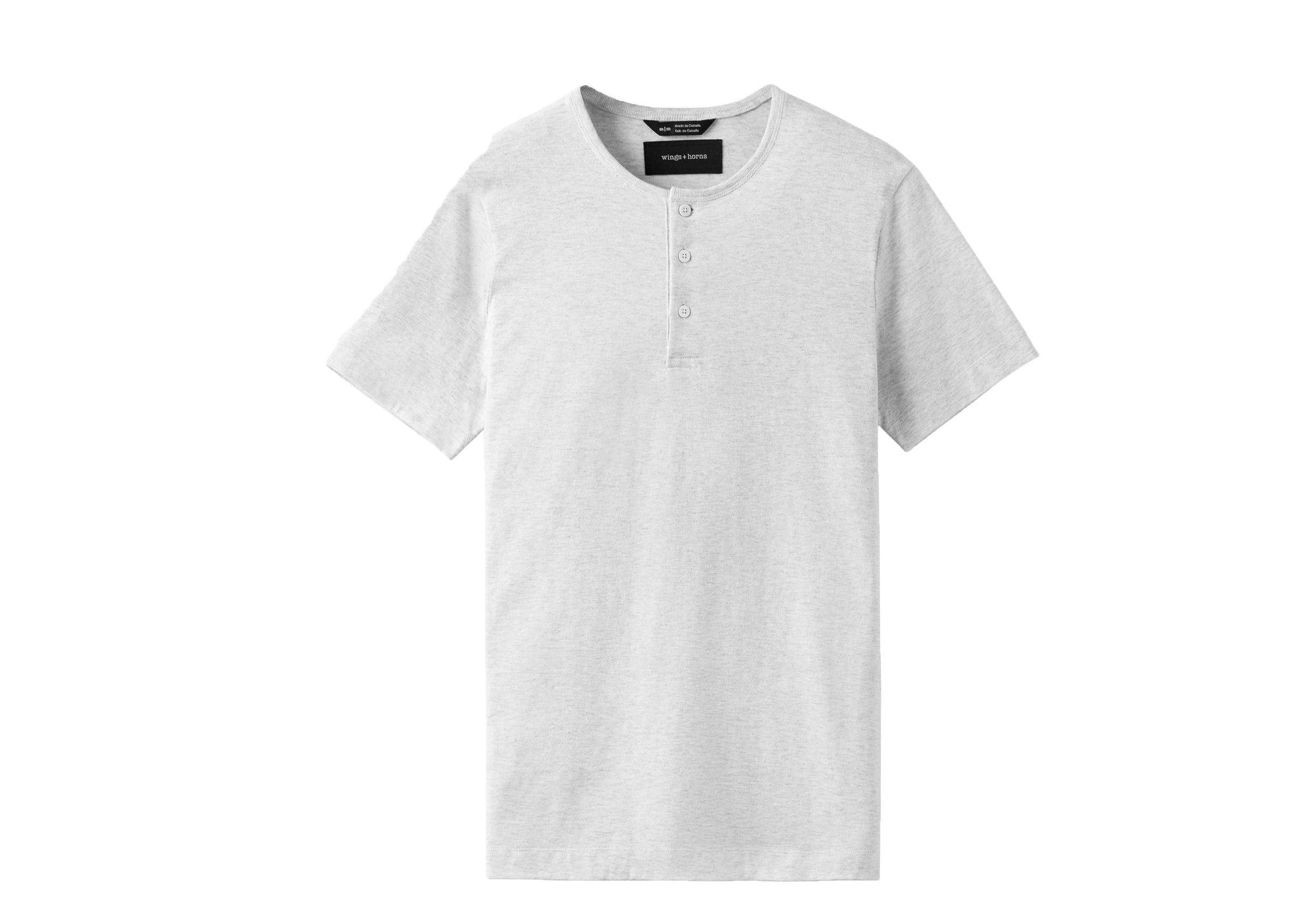 KNIT PIMA JERSEY HENLEY-WI-1132 MENS SOFTGOODS WINGS+HORNS