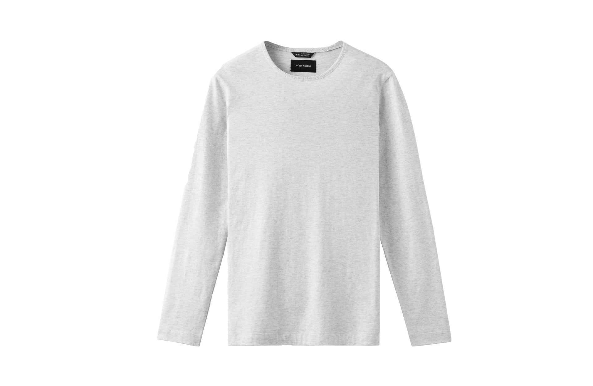 KNIT PIMA JERSEY LONG SLEEVE MENS SOFTGOODS WINGS+HORNS