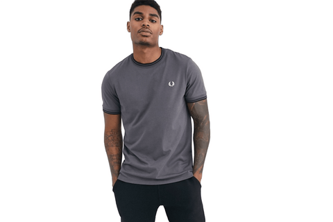 TWIN TIPPED T-SHIRT-M1588 MENS SOFTGOODS FRED PERRY
