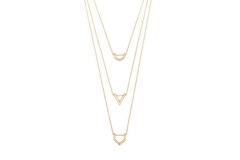 GIGI NECKLACE WOMENS JEWELRY CLUB MANHATTAN MATTEGOLD O/S D17