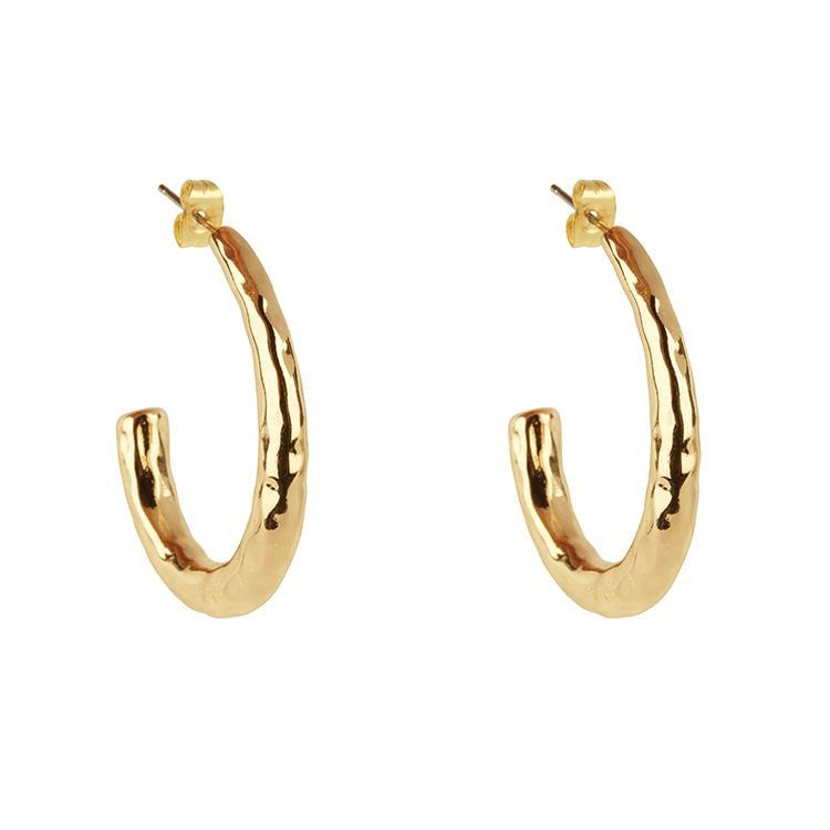 HAMMERED OVAL HOOPS JEWELRY CLUB MANHATTAN