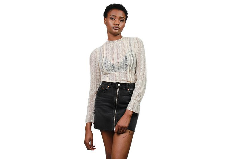 ALL ABOUT THAT LACE KNIT WOMENS SOFTGOODS AMUSE SOCIETY SAND DOLLAR XS A902GALL