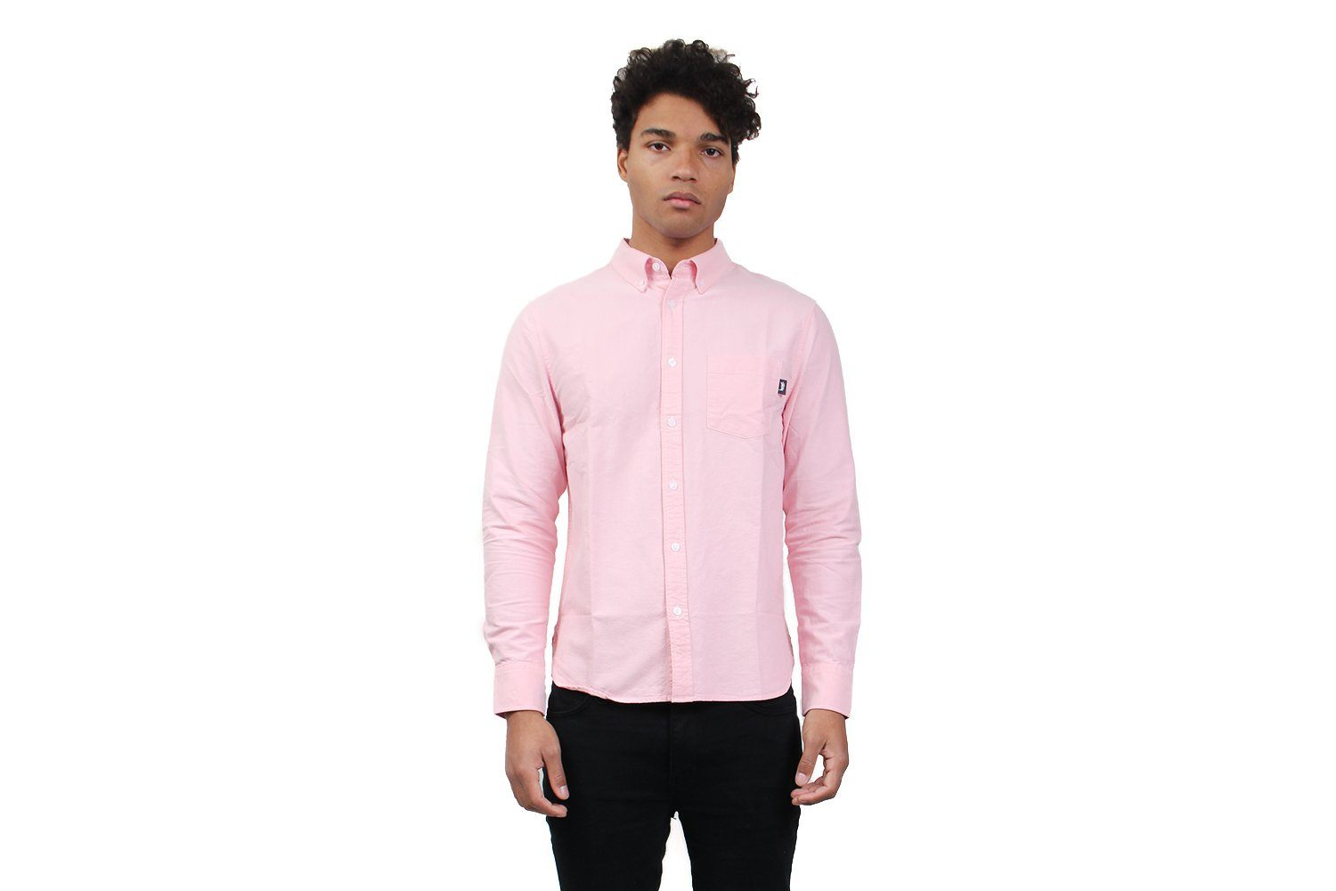 FRANK OXFORD LS SHIRT - 111964 MENS SOFTGOODS STUSSY PINK L
